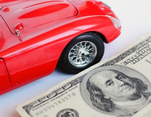 Red car and money