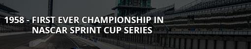1958 - NASCAR Sprint Cup Series