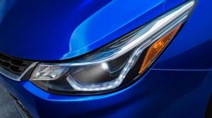 Blue Chevy Cruze headlight
